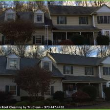 Kinnelon Roof Cleaning Before and After