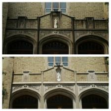 Before after church exterior cleaning