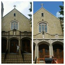 Before after exterior church washing