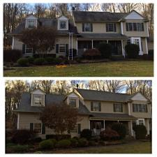 Before after house washing nj