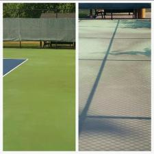 Before after tennis court washing